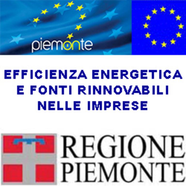 Bando Regione Piemonte per l'efficienza energetica e fonti rinnovabili nelle imprese