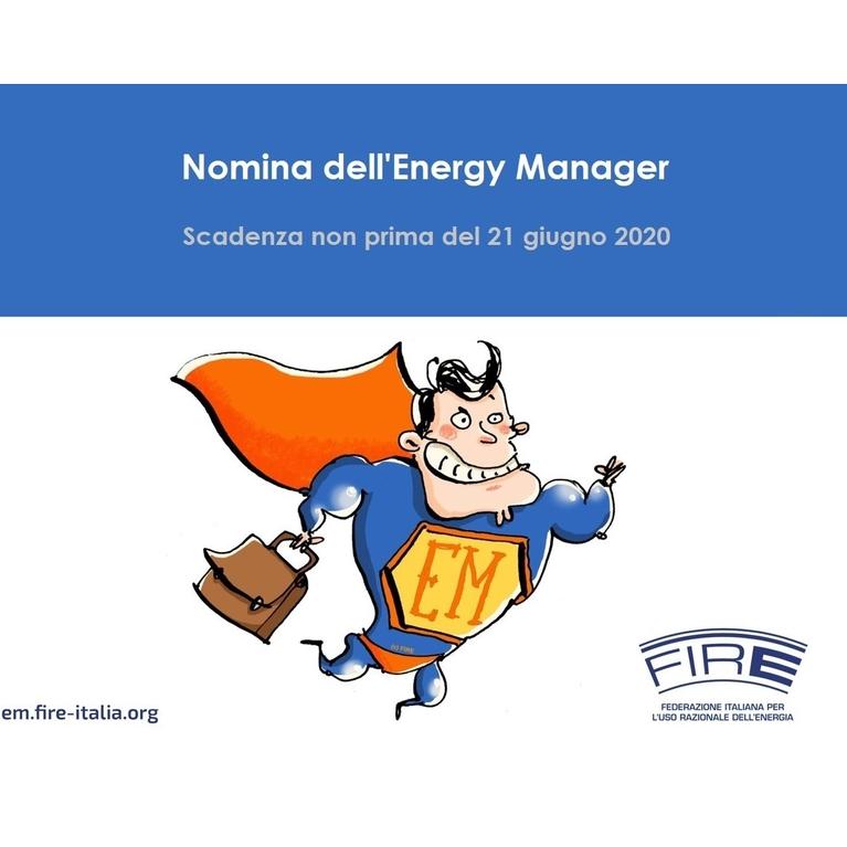 Energy manager: posticipato il termine per la presentazione della nomina